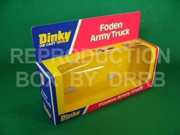 Dinky #668 Foden Army Truck - Reproduction Box